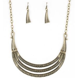 Jewelry - Primal Princess - Brass Necklace Earring Set